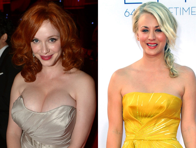 Christina Hendricks Kaley Cuoco