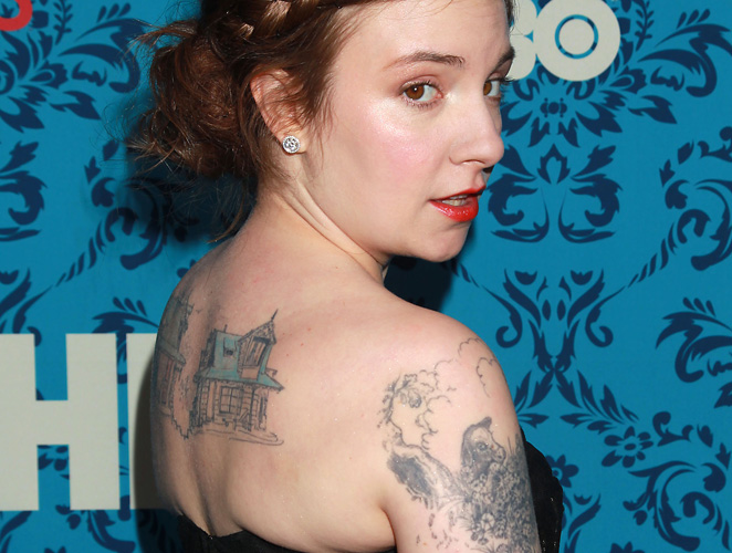 Lena Dunham tatuaje