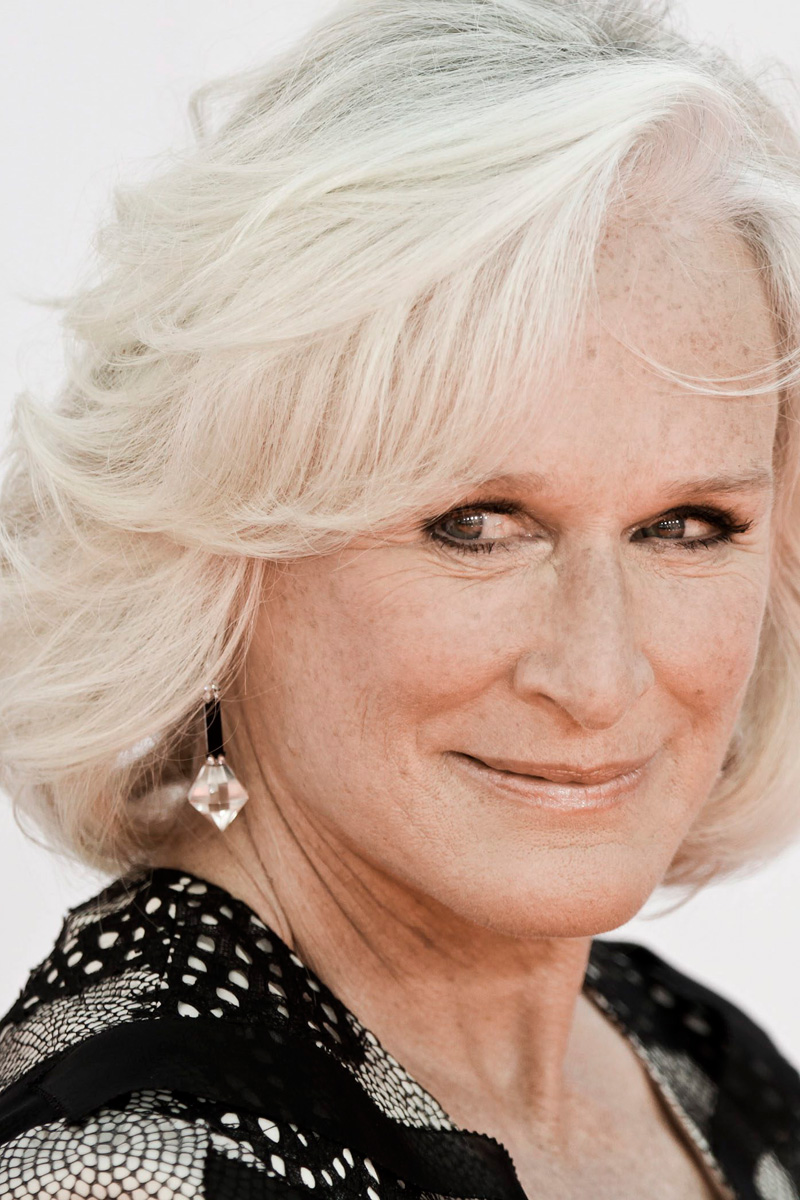 Glenn Close pelo blanco