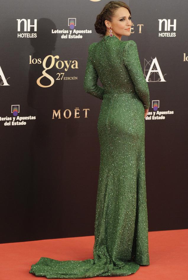 Paula echevarria premios goya vestido verde