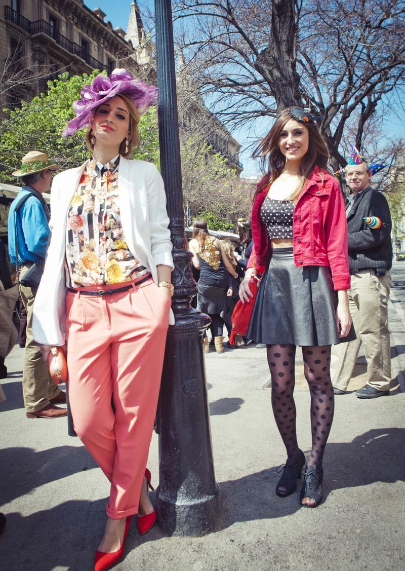 Los locos y festivos sombreros de la fiesta Amb Barret en Barcelona