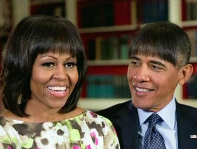 Por qué todo el mundo está obsesionado con el flequillo de Michelle Obama