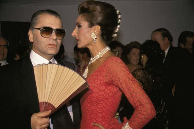 Lagerfeld con Nati