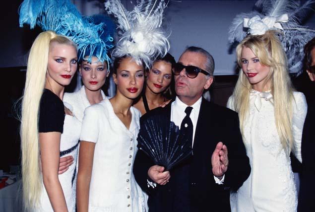Lagerfeld con todas