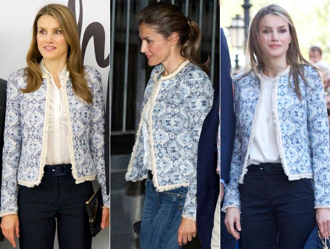 minorista online 43c70 f126a Letizia Ortiz: Una chaqueta de Mango, tres looks ...