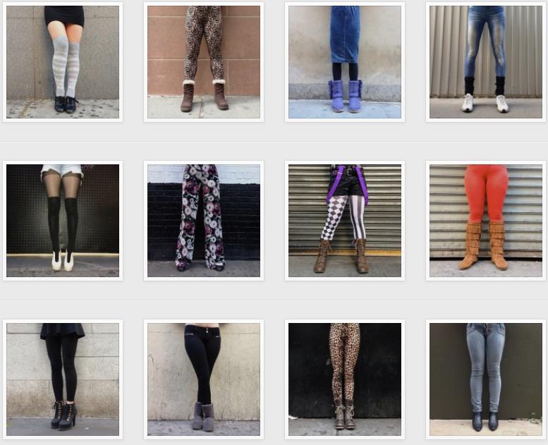 Las piernas de las mujeres de Nueva York en Instagram