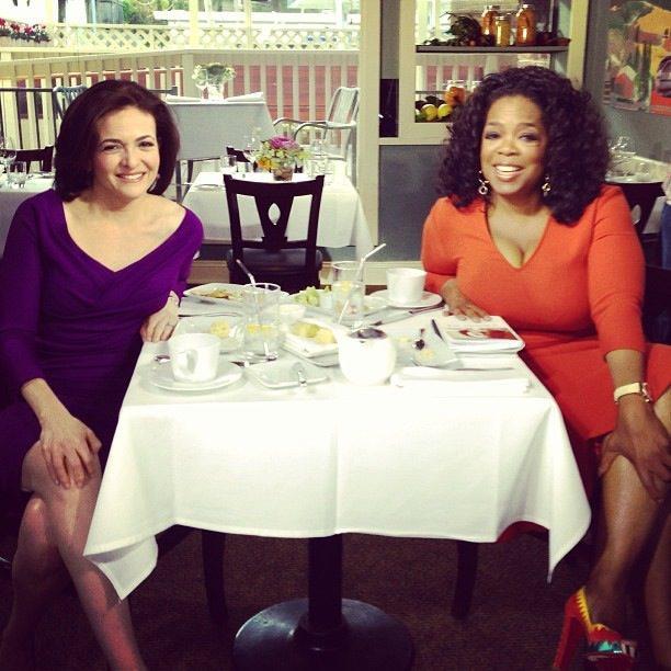 Sheryl Sandberg y Oprah