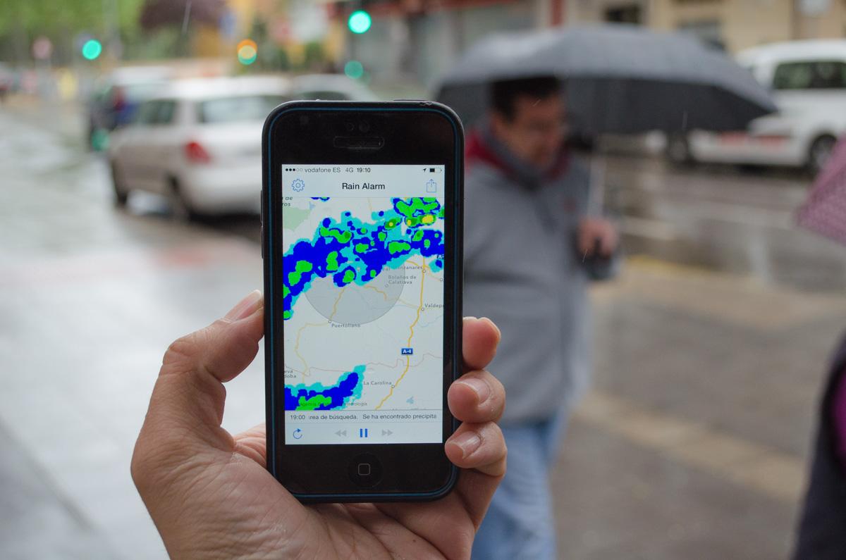 Rain Alarm, la app con la que siempre sabrás cuando sacar el paraguas