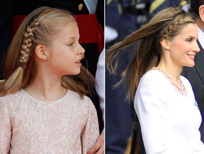 Melena con trenzas: el peinado de Letizia (y también de Leonor)
