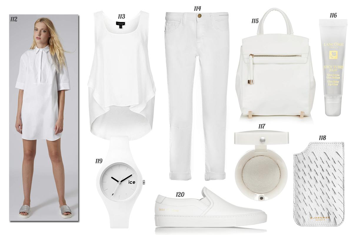 mas de cien maneras de vestir de pies a cabeza de blanco