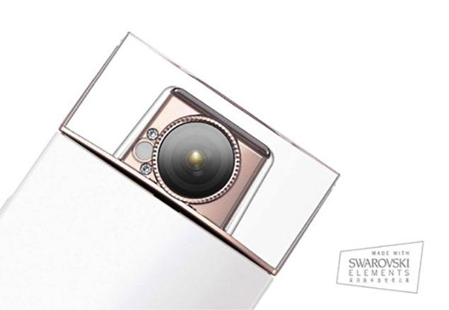 La cámara Sony DSC-KW1 lleva cristales Swarovski incrustados.