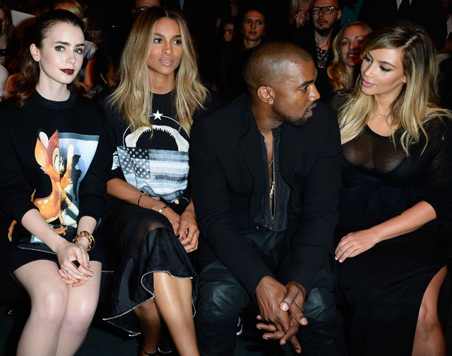 Kanye West front row