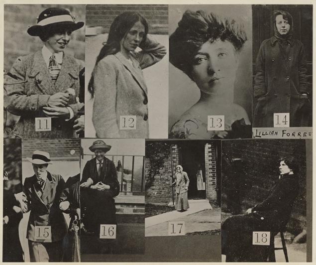 Ficha policial sufragistas británicas