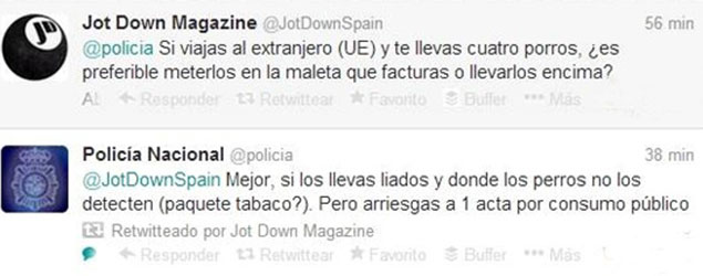 twitter policia jot down