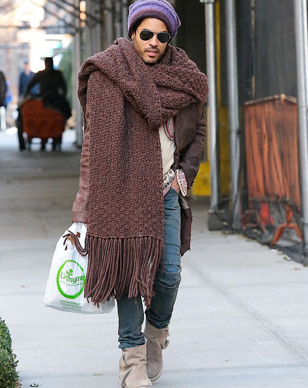 60% de liquidación buena calidad mujer Está pasando: se lleva la bufanda XXL de Lenny Kravitz ...