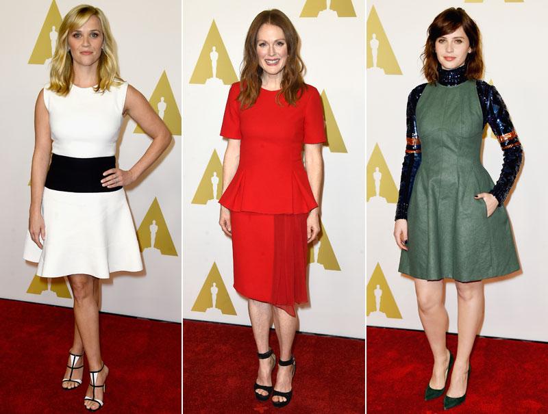 Así vistieron los nominados en el tradicional almuerzo de los Oscar
