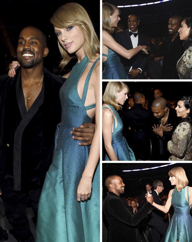 Taylor Swift Kanye West Grammy 2015