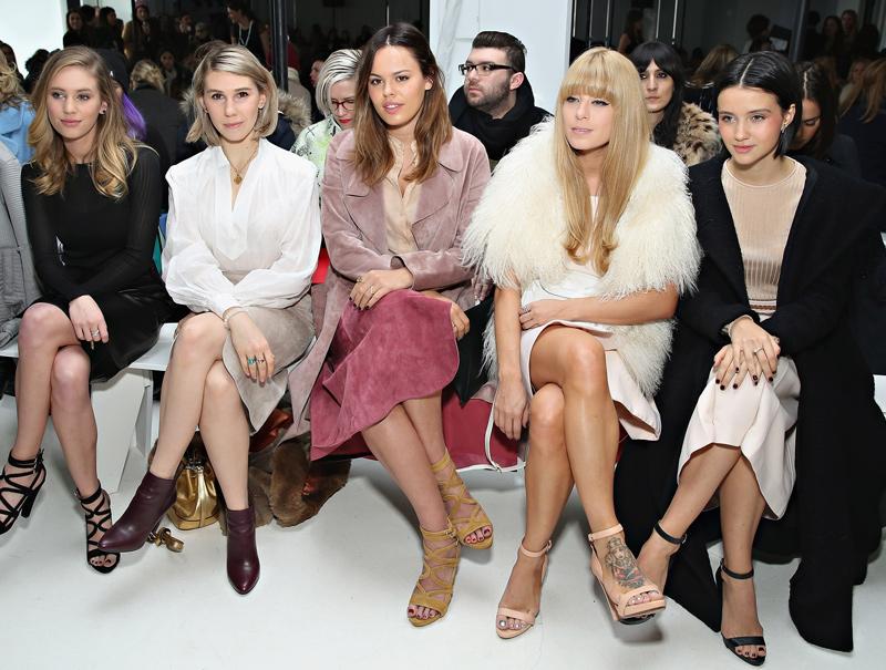 celebrities front row nueva york sin medias