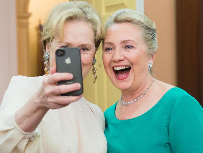 Hillary Clinton humor Meryl Streep