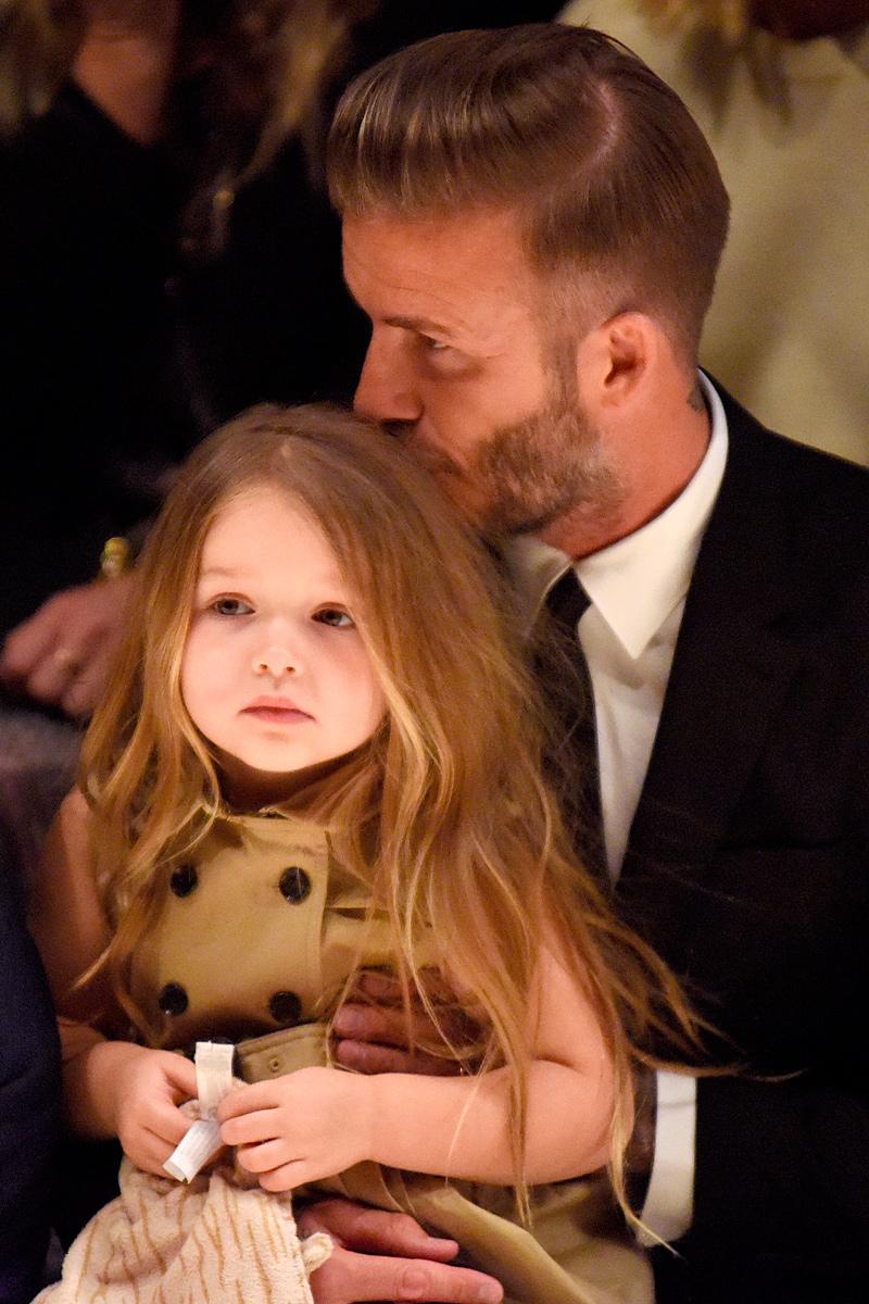los momentos mas tiernos de david beckham y su hija harper beckham