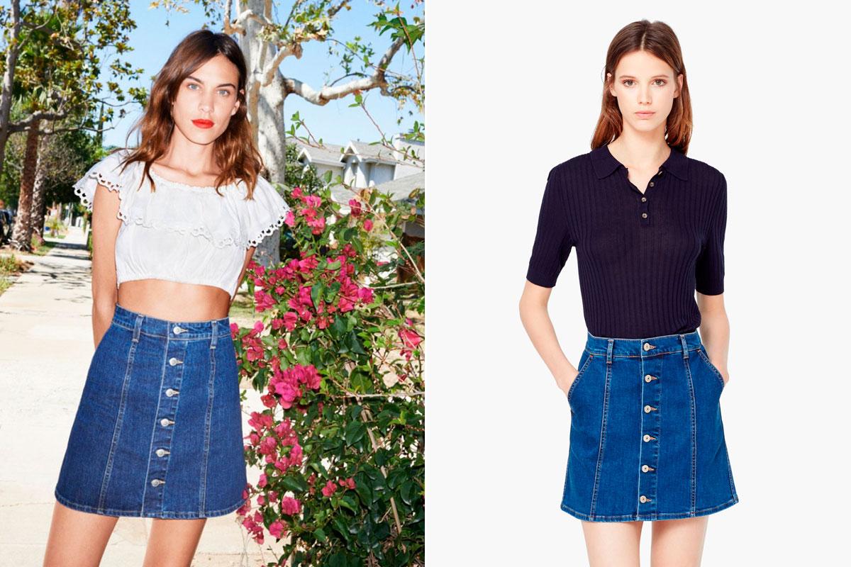 d7fc3edf73 ... la falda del verano. Clones Alexa Chung Ag Jeans