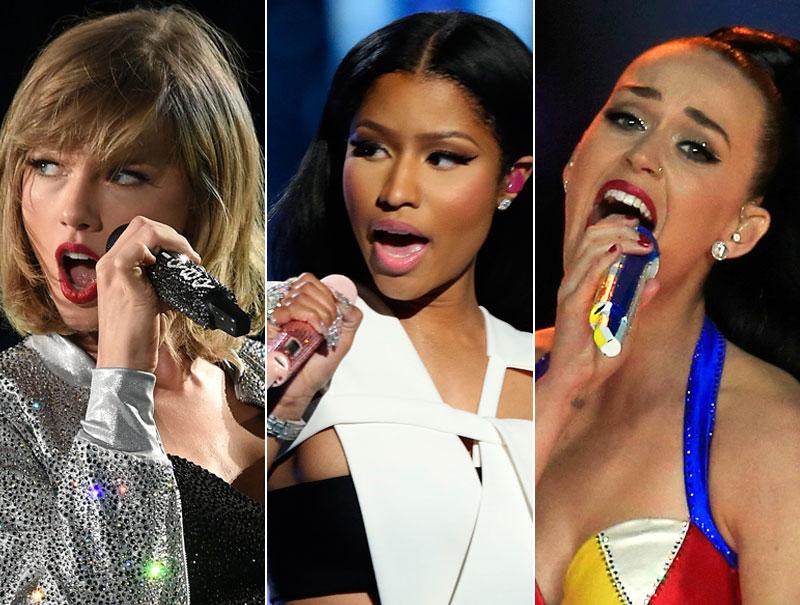 Guía para entender el 'pique' entre Nicki Minaj, Taylor Swift y Katy Perry