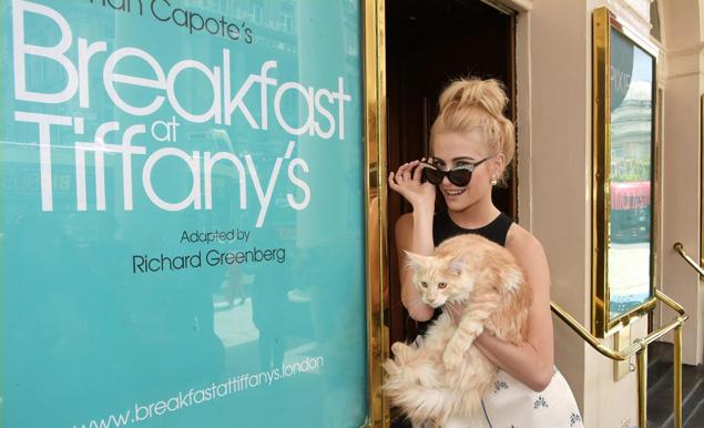 Pixie Lott desayuno con diamantes