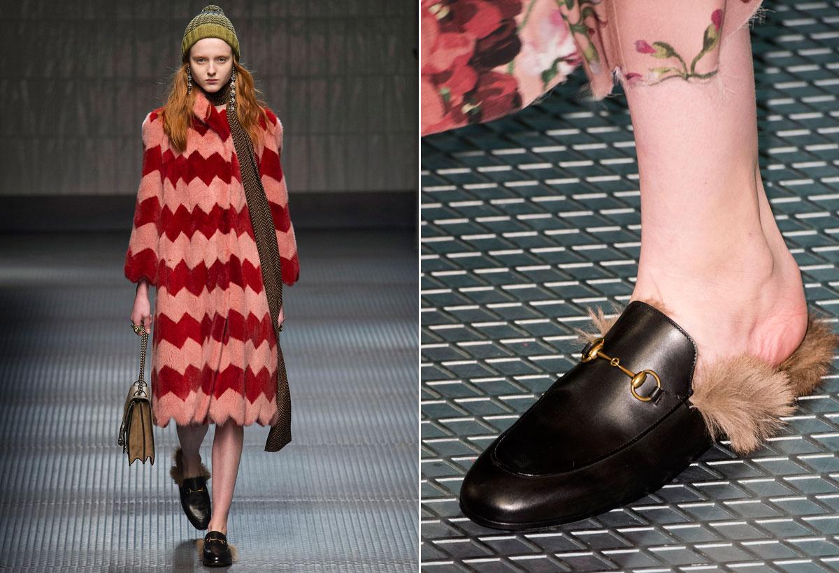 zapatos peludos Gucci