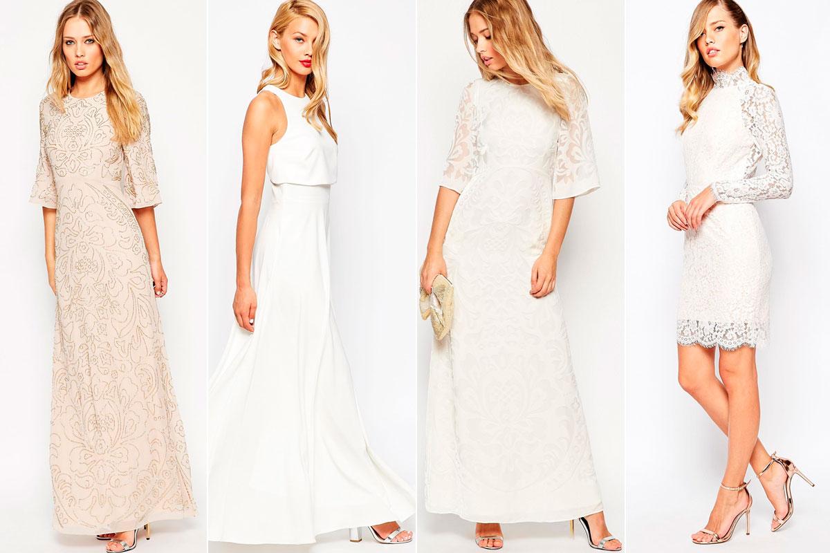 Vestidos de novia baratos asos