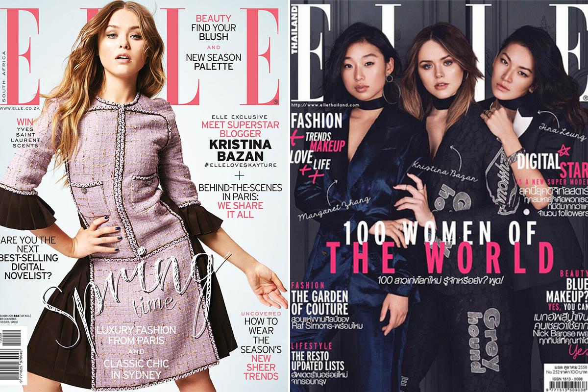 kristina bazan portadas de revista