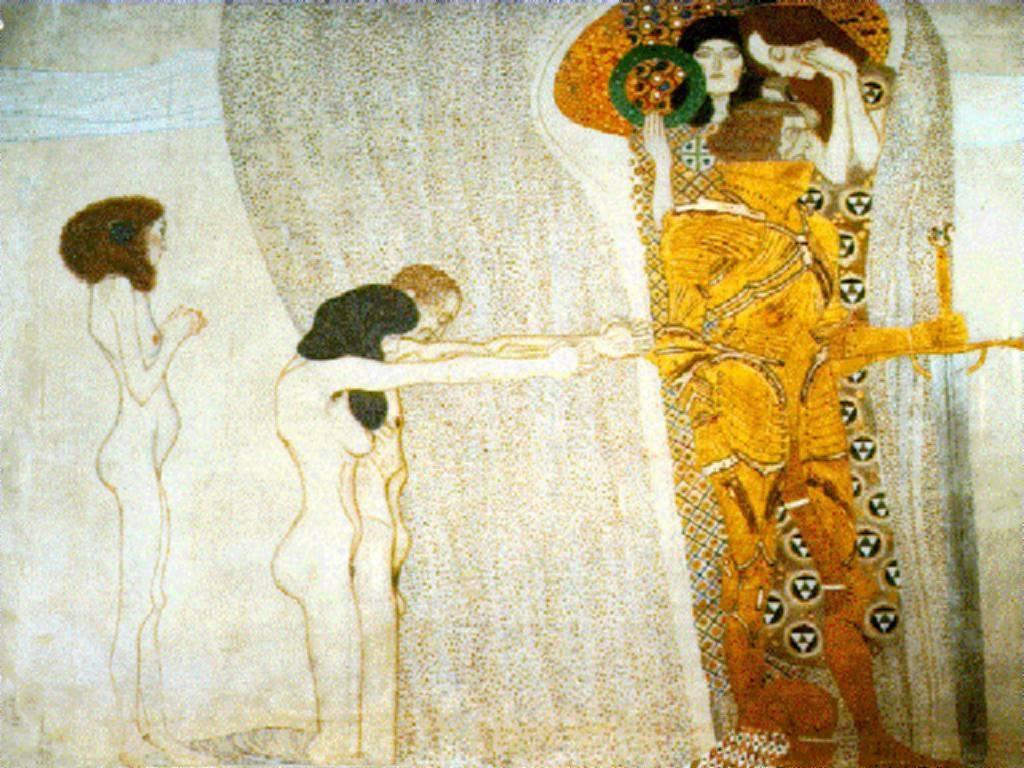 recreacion pinturas Klimt con modelos reales