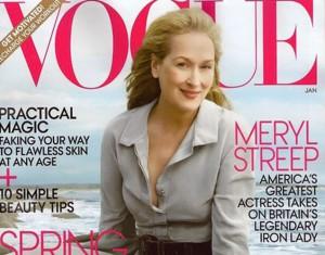 Meryl Streep aparece en la portada de Vogue por primera vez
