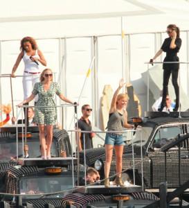 Las Spice Girls ensayan su número para la ceremonia de clausura de los Juegos