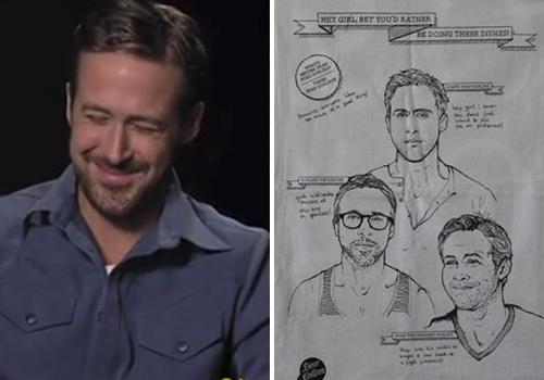 Ryan Gosling y los trapos de cocina con su cara