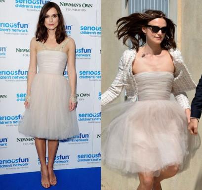 keira knightley recicla su vestido de novia (otra vez) - imperdibles