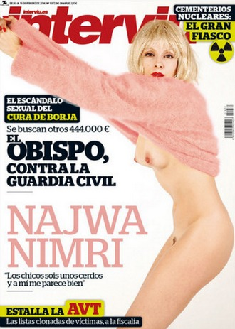 Najwa Nimri se desnuda para Interviú