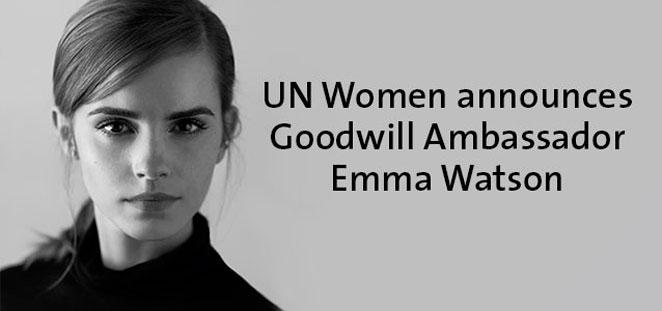 Emma Watson, nombrada embajadora de la ONU
