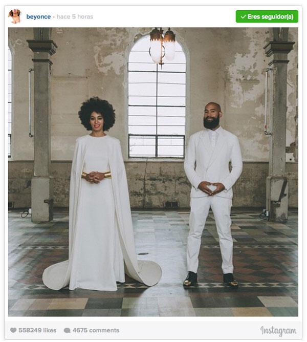 Así fue la boda de Solange Knowles