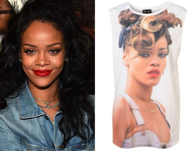 Rihanna gana la batalla legal a Topshop por vender una camiseta con su cara