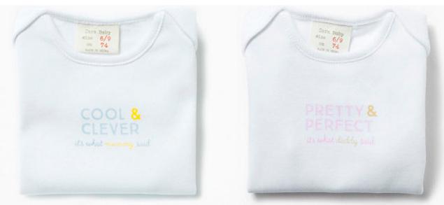 Los niños son listos, las niñas guapas: el polémico mensaje de los 'bodys' de Zara