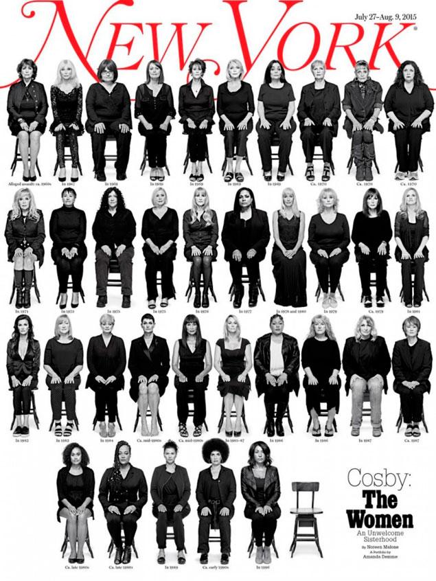 35 víctimas de abusos de Bill Cosby, en la portada de 'New York Magazine'