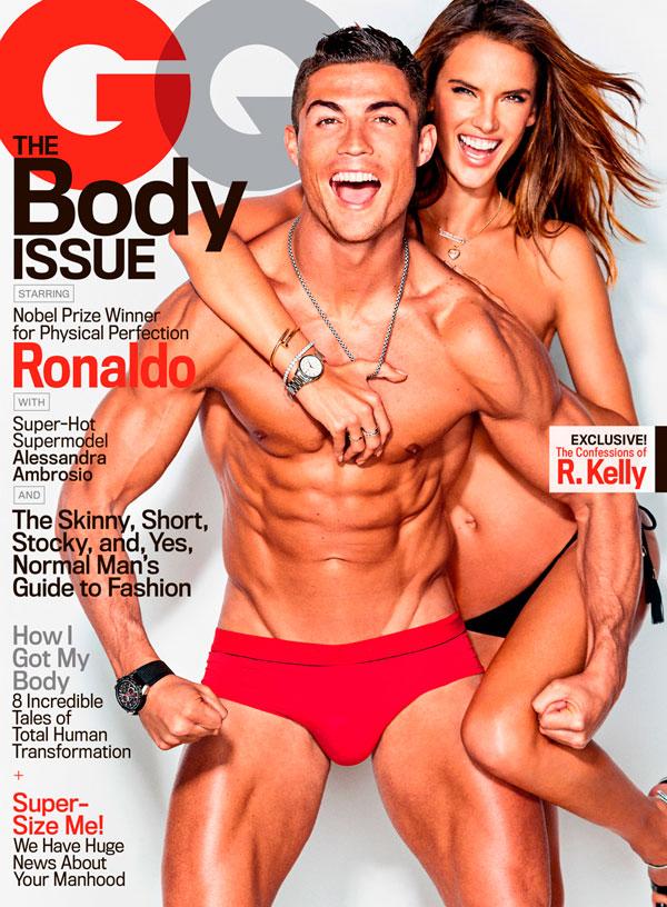 Así de sensuales posan juntos Cristiano Ronaldo y Alessandra Ambrosio