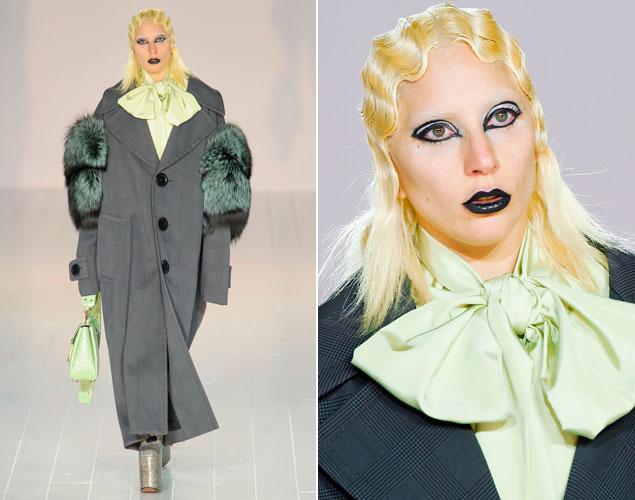 Lady Gaga vuelve a la pasarela desfilando para Marc Jacobs