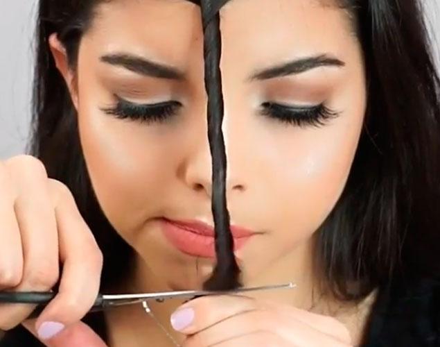 Así puedes cortarte el flequillo en casa en 15 segundos