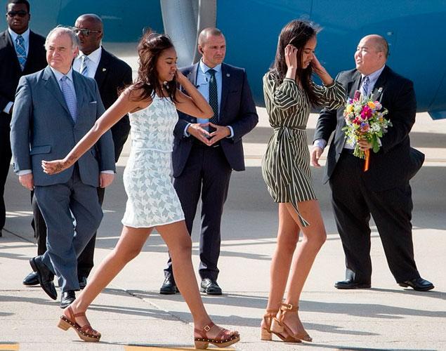 Las hijas de Obama se van de compras al Primark de Gran Vía