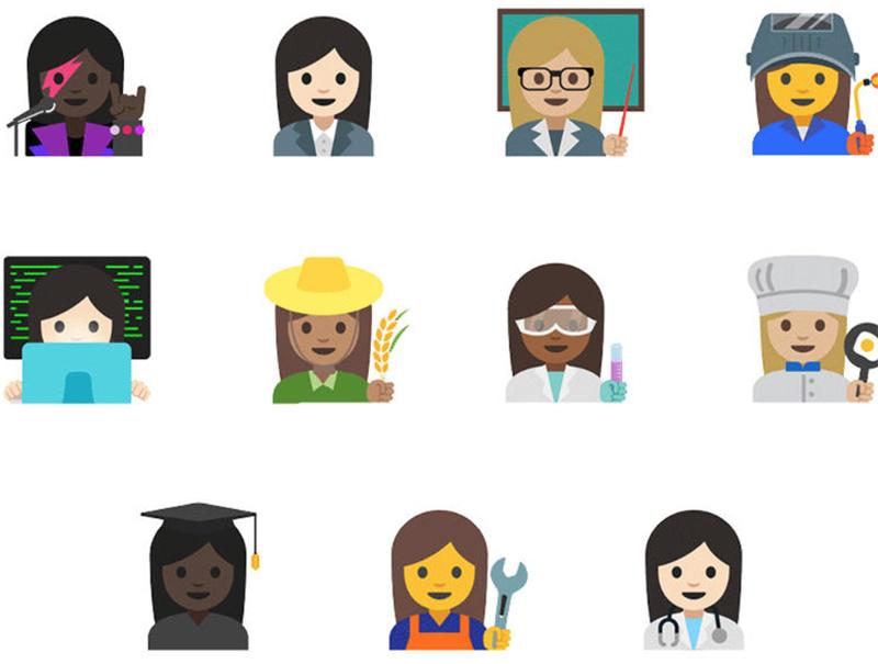 Científicas, jardineras, chefs o mecánicas; algunas de las nuevas profesiones representadas por los emojis.