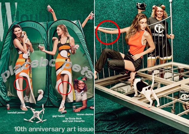 El photoshop también se ceba con Kendall Jenner y Gigi Hadid