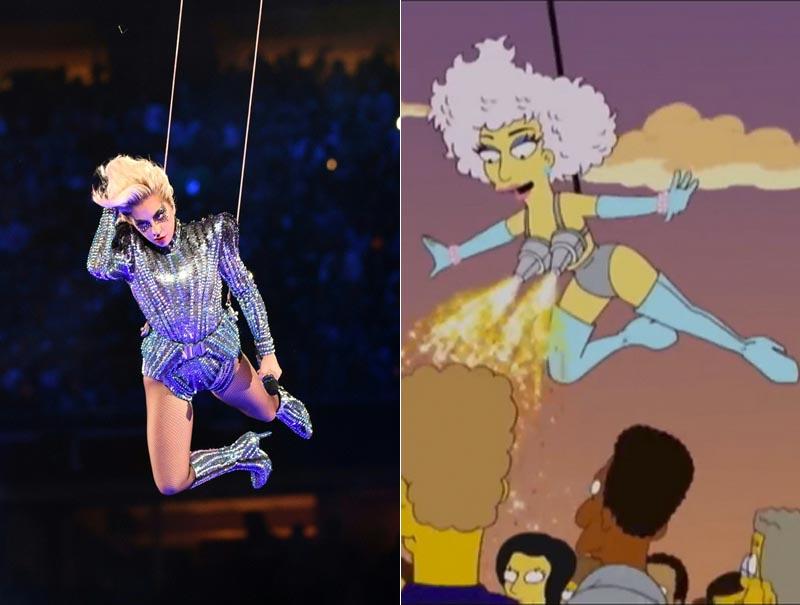 Los Simpson también adivinaron la Super Bowl de Lady Gaga