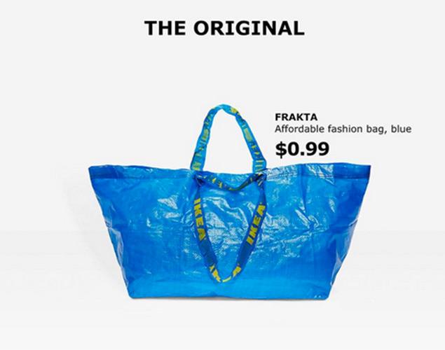 Cómo identificar la verdadera bolsa de Ikea: la ingeniosa respuesta al clon de los 2.000 euros