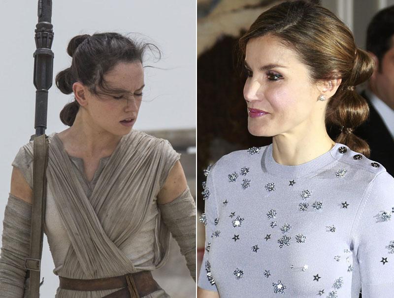 La reina Letizia se marca un peinado a lo Rey de 'Star Wars'